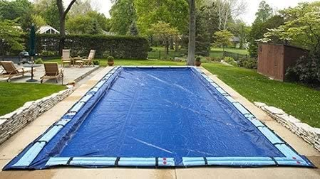 Amazon Com In Ground Winter Pool Cover Pool Size 20 In X 40 In Rect Arctic Armor 15 Yr Warranty Home Improvement