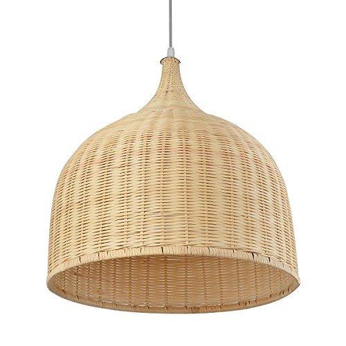 DEE Araña-Personalidad Creativa Iluminación de la Sala Luz de Techo nórdica, ratán Pastoral Bambú Candelabros...