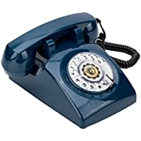 Rotary Dial 1960s Classic Old Fashioned Retro Vintage Bell DeskTelephone,Blue