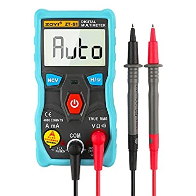 ZOYI ZT-S1 Intelligent Digital Multimeter tester autoranging True rms automotriz Mmultimetro with NCV LCD backlight+Flashlight