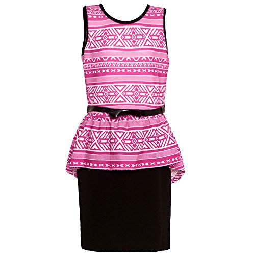 Buy belted peplum dress - 2