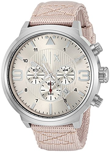 Armani-Exchange-Mens-AX1374-Nude-Leather-Watch
