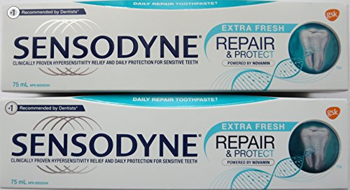 Price comparison product image ( Pack of 2 ) Sensodyne with Novamin,  Repair & Protect,  Extra Fresh 75 mL ( Canadian )