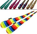 FUNKY® Sock Poi Set (5 Designs) Pro Poi Spinning Socks AKA Tube Poi (Zebra)