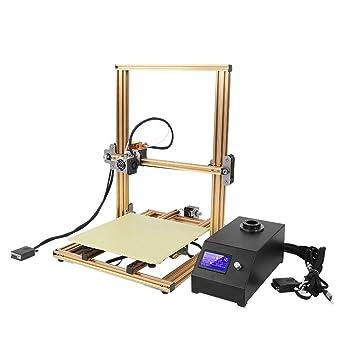 3DプリンタAcouto高品質アルミ精密印刷速い放熱溶融堆積成形0.04mm3Dプリンター高速造形組立て簡単停電印刷物取り易い(米国プラグ)