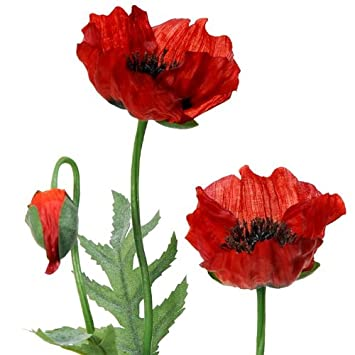 Artificial red poppy flowers image collections flower decoration ideas beautiful red artificial poppies flower arrangement with vase the mightylinksfo