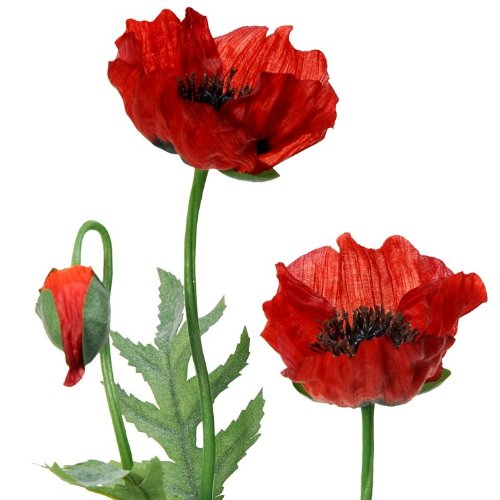65cm artificial red poppy flowerstem amazon garden outdoors mightylinksfo
