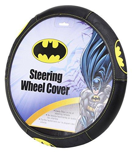 Plasticolor 006711R01 Black Steering Wheel Cover (Batman Shattered)