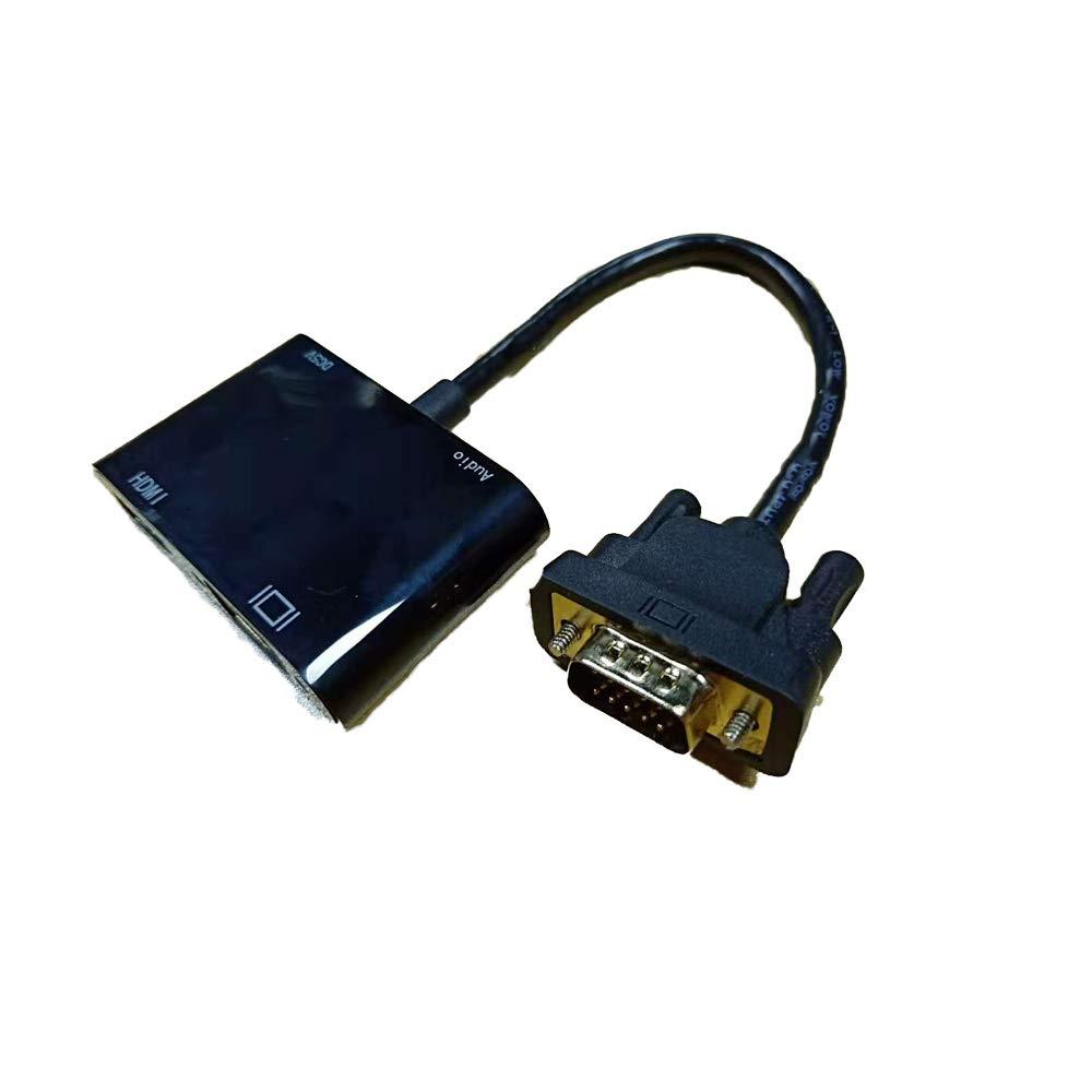 Ruipoo Adaptador VGA 2-1 Adaptador VGA Macho a VGA HDMI de ...