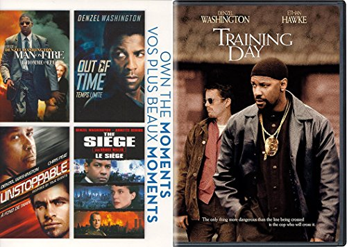 Man on Fire DVD & Training Day Denzel Washington / Out Of Time / Unstoppable / The Siege (Own the Moments) 5 Films