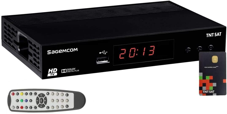 SAGEM - Receptor satélite HD Astra N° 1 + tarjeta TNTSAT V6 canales TNT franceses