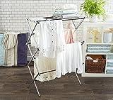 AmazonBasics Foldable Clothes Drying Laundry Rack - Chrome