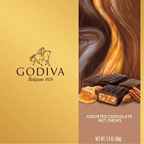 Godiva Chocolatier Assorted Chocolate Nut Chew 9 Piece Gift Box, 3.4 Ounce