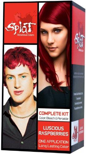 Splat Rebellious Colors Complete Hair Color Kit Luscious Raspberry (Pack of 2) (Raspberries Luscious)