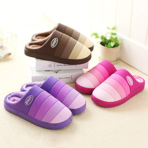 Antidérapantes Doux Eagsouni® Souple Intérieur Warm Violet Slippers Femmes Hiver Chaussons Pantoufles Peluche Antidérapant Maison ftrtTqW