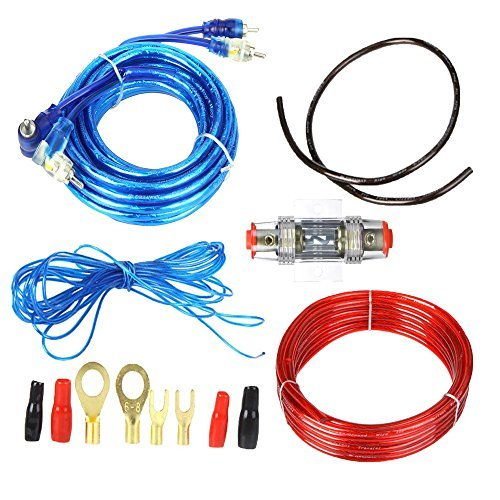 FLY RC 1500W Car Audio Subwoofer Amplifier Wiring Kit Fuse Holders Wire Cables Ground Wire -
