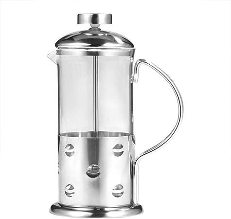 yamybox Vaso de Acero Inoxidable Taza de café a presión Francesa óxido Escala Visual Olla a presión de café Tetera cafetera Filtro Herramienta de Cocina, 600 ml: Amazon.es: Hogar