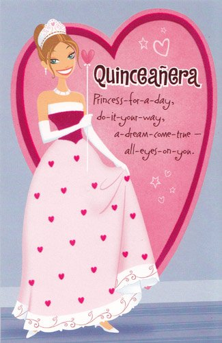 Amazon Birthday Card Quinceanera Her 15th Birthday Princess