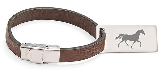 Select Gifts Carreras de Caballos de cuero personalizado grabado etiqueta de equipaje: Amazon.es: Ropa y accesorios