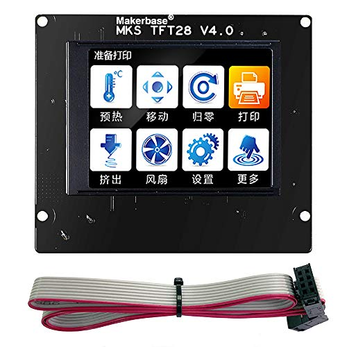 Sunhokey MKS TFT28 V4.0 3D Printer Touch Screen Controller Panel Display Color TFT Support/WiFi/APP/Outage 4 Languages