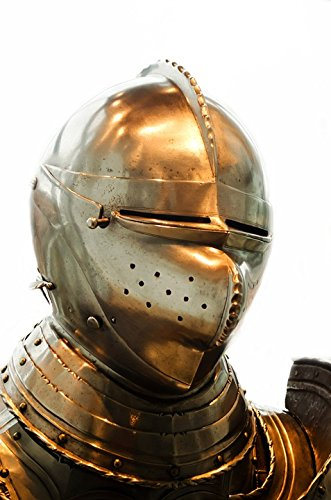 Canvas Print Steel Protection Armor Helmet History Old Knight Stretched Canvas 10 x 14 ()