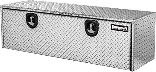 Buyers Products Diamond Tread Aluminum Underbody Truck Box w/ T-Handle Latch (18x18x60 Inch) (60 Inch Tool Box)
