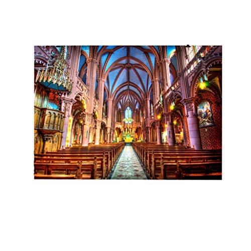 (TIFENNY Paris Cathedral Rose Window Backdrops Photography Studio Background Notre Dame de Paris Photography Cloth)