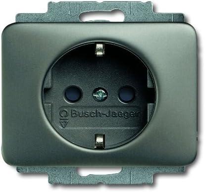 Steckdosen-Einsatz B+J alpha platin 20 EUC-20