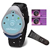 Reliefband for Motion and Morning Sickness Bundle with 2 Replacement Conductivity Gel Tubes 7.5ml, and 2 Blucoil CR2025 Batteries
