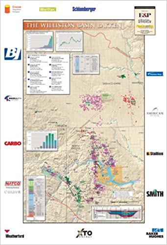 Williston Basin Bakken Wall Map Peggy Williams 9780984270897