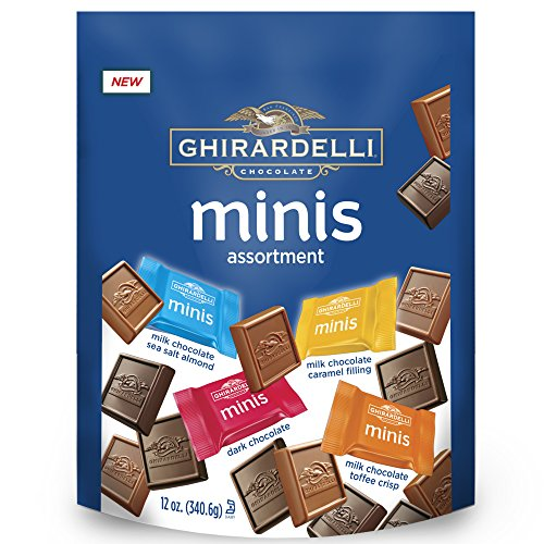 (Ghirardelli Assorted Mini Squares Pouch, X-Large, 12 Ounce)