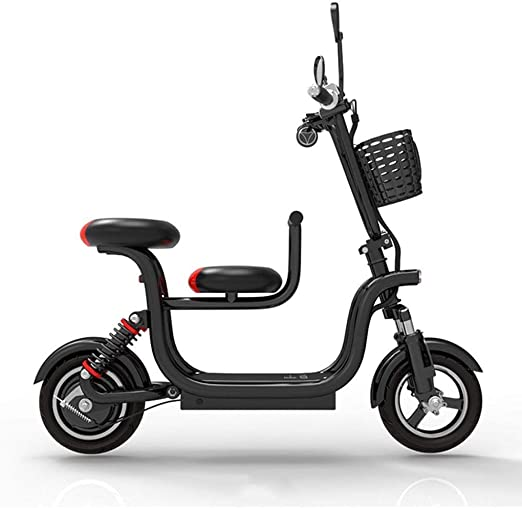 CYGGL Bicicleta eléctrica Plegable con Asiento para niños, batería ...
