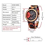 BOBO BIRD Mens Colorful Wooden Watches Analog Quartz Date Display Wood Watch Handmade Luxury Casual Wristwatch with Gifts Box for Men