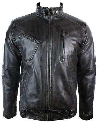 Blouson Véritable Homme Aviatrix Biker Motard Cuir Manteau Style 5RvxwqF