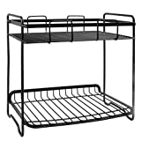 2-Tier Multi-Purpose Durable Steel Rack Used in Kitchen&Bathroom.Cosmetic Organizer Storage Holder for Spice