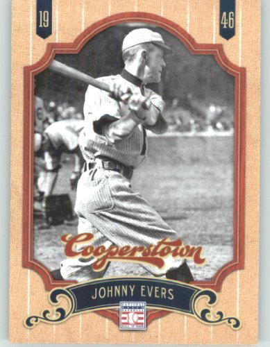 2012 Panini Cooperstown Baseball Card #34 Johnny Evers - Chicago Cubs (Legend / Hall of Fame / HOF) MLB Trading Cards (Cooperstown Memorabilia)