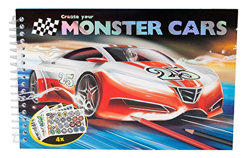 Monster Cars Pocket Colouring Book Amazon Co Uk Toys Games