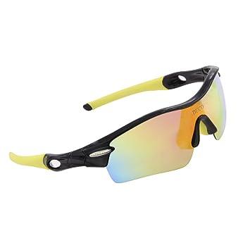Polarisierte Sport-Sonnenbrille mit 5Wechselobjektive UV400Schutz Sports Sonnenbrille für Radfahren Running Brille, grau