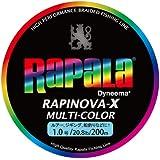 Rapala(ラパラ) PEライン ラピノヴァX マルチカラー 200m 1.0号 20.8lb マルチカラー RXC200M10MC