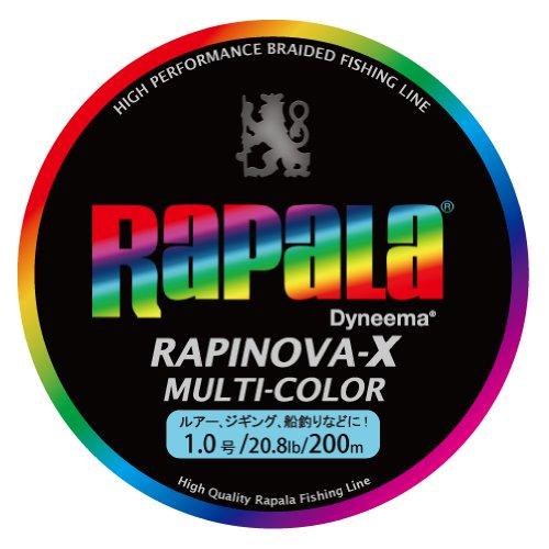 Rapala(ラパラ) ライン ラピノヴァXマルチカラー1.0号/20.8lb/9.4kg/200m RXC200M10MCの商品画像