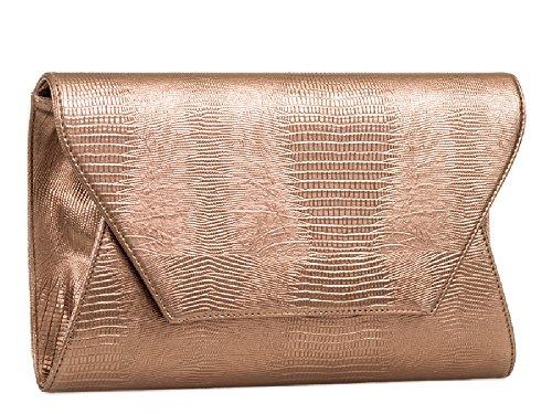 Ladies Snakeskin Purse KA822 White Clutch Handbag Women's Bag Evening Skin Envelope Snake Bag rr4qnHTSw