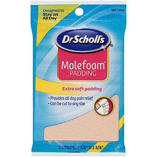Dr. Scholl's Molefoam Padding, 2 strips of 4 1/8