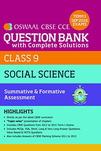Oswaal CBSE CCE Question Bank With Complete Solutions For Class 9 Term I  (April to Sep  2016 ) Social Science