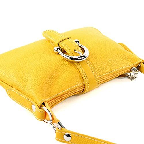 modamoda de - Made in Italy - Bolso cruzados para mujer ver descripción amarillo