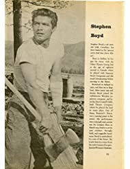 Stephen Boyd original clipping magazine photo 1pg 8x10 #R1895