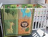 Safari natural Baby Boy 6 Pieces Nursery Crib Bedding Set With Bumper