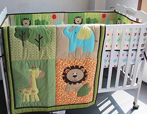 Safari natural Baby Boy 7 Pieces Nursery Crib Bedding Set With Bumper