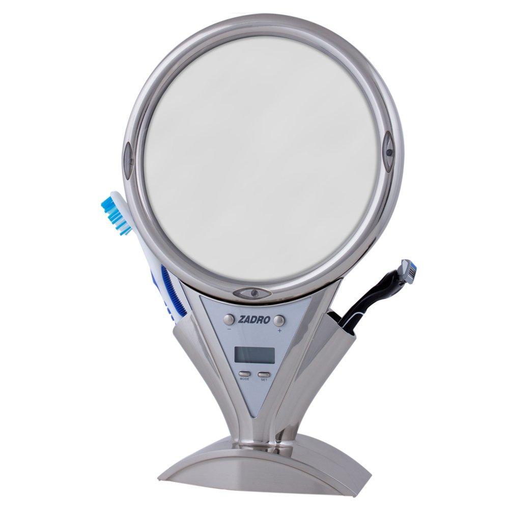 Amazon.com : Zadro Zu0027Fogless Power Zoom Lighted Shower Mirror, White With  Chrome : Beauty