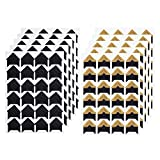 10 Sheets Photo Corners Self Adhesive Photo Mounting Sticker Paper Corner Stickers for Scrapbooking Album Dairy, Black and Gold