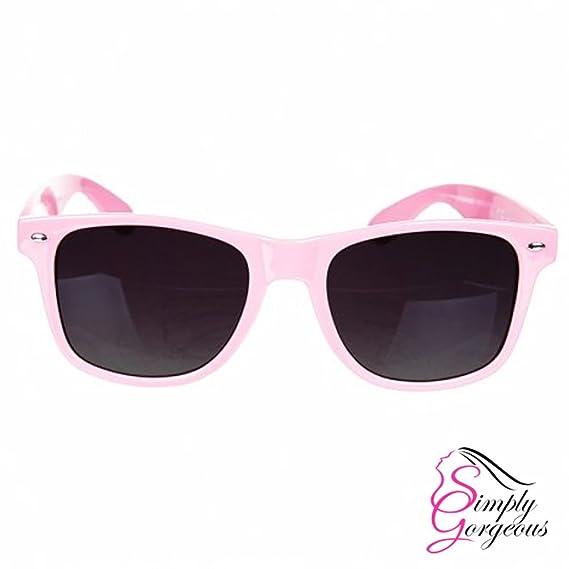 Unisexe Mens Ladies Wayfarer Aviator Lunettes de soleil style rétro Fashion Shades UV400 - Rose Foncé TbVLPN